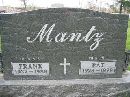 MANTZ, FRANK - Union County, Ohio | FRANK MANTZ - Ohio Gravestone Photos