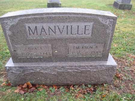 MANVILLE, CORA T. - Union County, Ohio   CORA T. MANVILLE - Ohio Gravestone Photos