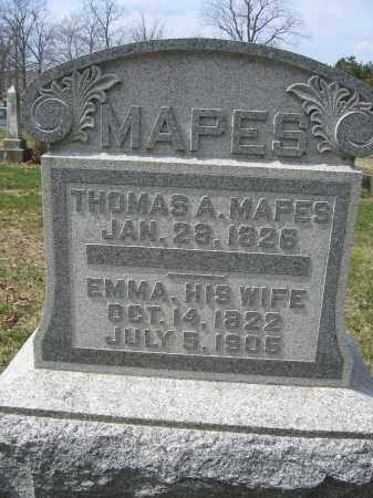 MAPES, EMMA - Union County, Ohio   EMMA MAPES - Ohio Gravestone Photos