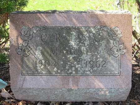 MARINE, GERALD C. - Union County, Ohio | GERALD C. MARINE - Ohio Gravestone Photos