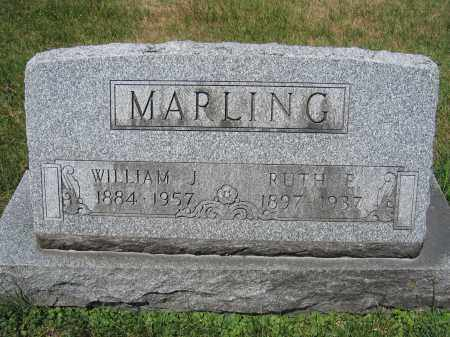MARLING, WILLIAM J. - Union County, Ohio   WILLIAM J. MARLING - Ohio Gravestone Photos