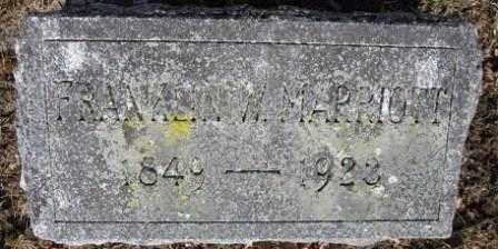 MARRIOTT, FRANKLIN W. - Union County, Ohio | FRANKLIN W. MARRIOTT - Ohio Gravestone Photos