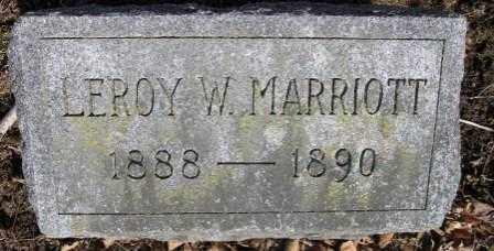 MARRIOTT, LEOY W. - Union County, Ohio   LEOY W. MARRIOTT - Ohio Gravestone Photos