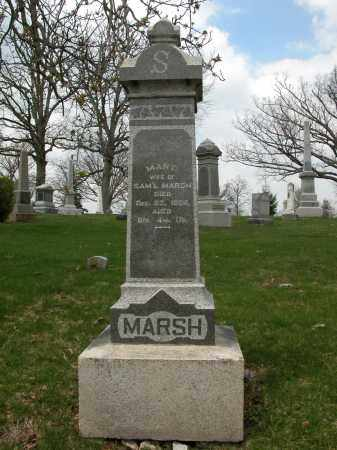 MARSH, MARY - Union County, Ohio | MARY MARSH - Ohio Gravestone Photos