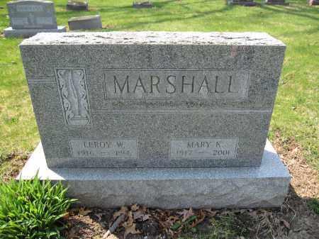 MARSHALL, LEROY W. - Union County, Ohio | LEROY W. MARSHALL - Ohio Gravestone Photos