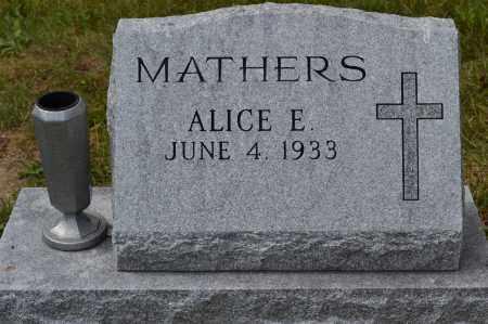 MATHERS, ALICE E. - Union County, Ohio | ALICE E. MATHERS - Ohio Gravestone Photos