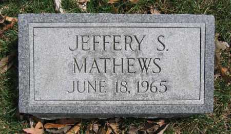 MATHEWS, JEFFERY S. - Union County, Ohio | JEFFERY S. MATHEWS - Ohio Gravestone Photos