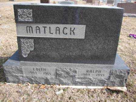 MATLACK, EDITH - Union County, Ohio | EDITH MATLACK - Ohio Gravestone Photos