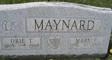 MAYNARD, OBIE T. - Union County, Ohio | OBIE T. MAYNARD - Ohio Gravestone Photos