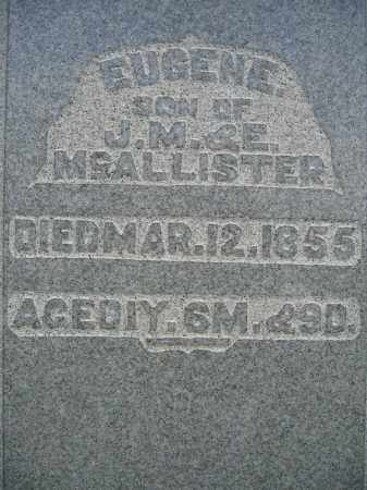 MCALLISTER, EUGENE - Union County, Ohio | EUGENE MCALLISTER - Ohio Gravestone Photos