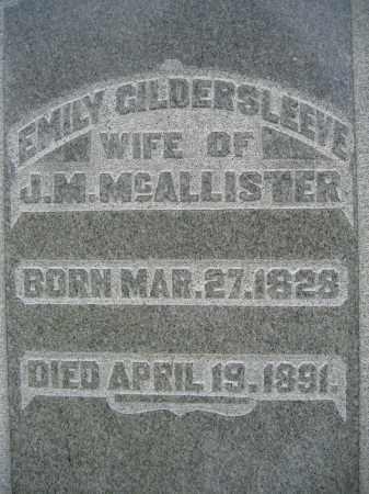GILDERSLEEVE MCALLISTER, EMILY - Union County, Ohio   EMILY GILDERSLEEVE MCALLISTER - Ohio Gravestone Photos