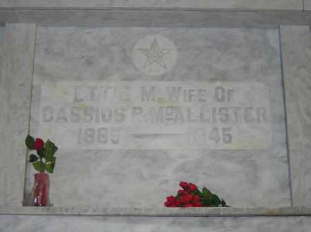 MCALLISTER, ETTE M. - Union County, Ohio | ETTE M. MCALLISTER - Ohio Gravestone Photos