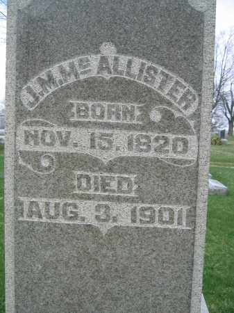 MCALLISTER, JESSE M. - Union County, Ohio   JESSE M. MCALLISTER - Ohio Gravestone Photos