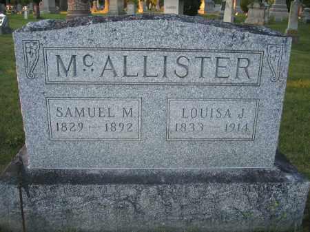 MCALLISTER, SAMUEL M. - Union County, Ohio | SAMUEL M. MCALLISTER - Ohio Gravestone Photos