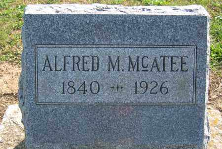 MCATEE, ALFRED M. - Union County, Ohio   ALFRED M. MCATEE - Ohio Gravestone Photos