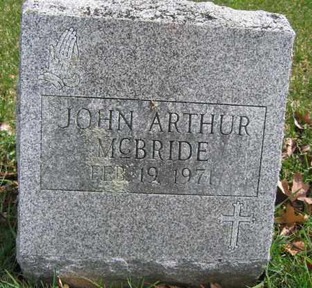 MCBRIDE, JOHN ARTHUR - Union County, Ohio | JOHN ARTHUR MCBRIDE - Ohio Gravestone Photos