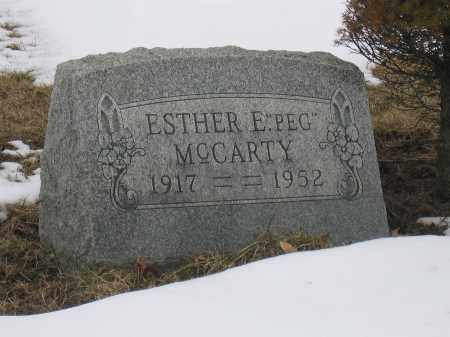 MCCARTY, ESTHER E. - Union County, Ohio | ESTHER E. MCCARTY - Ohio Gravestone Photos