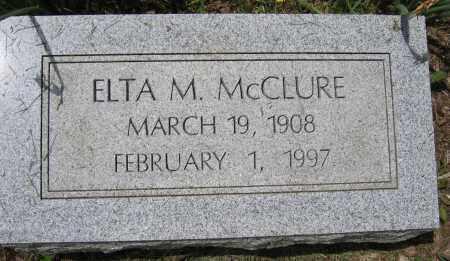 MCCLURE, ELTA M. - Union County, Ohio | ELTA M. MCCLURE - Ohio Gravestone Photos