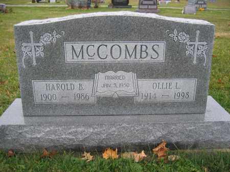 MCCOMBS, OLLIE L. - Union County, Ohio   OLLIE L. MCCOMBS - Ohio Gravestone Photos