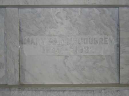 MCCOUBREY, MARY ANN - Union County, Ohio | MARY ANN MCCOUBREY - Ohio Gravestone Photos