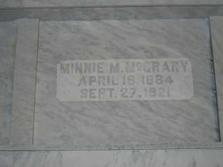 MCCRARY, MINNIE M. - Union County, Ohio   MINNIE M. MCCRARY - Ohio Gravestone Photos