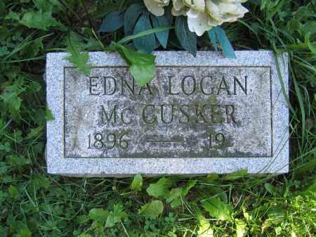 MCCUSKER, EDNA LOGAN - Union County, Ohio   EDNA LOGAN MCCUSKER - Ohio Gravestone Photos