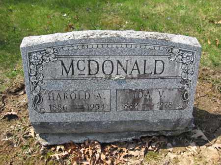 MCDONALD, IDA V. LLOYD - Union County, Ohio | IDA V. LLOYD MCDONALD - Ohio Gravestone Photos