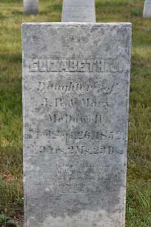 MCDOWELL, ELIZABETH J. - Union County, Ohio | ELIZABETH J. MCDOWELL - Ohio Gravestone Photos