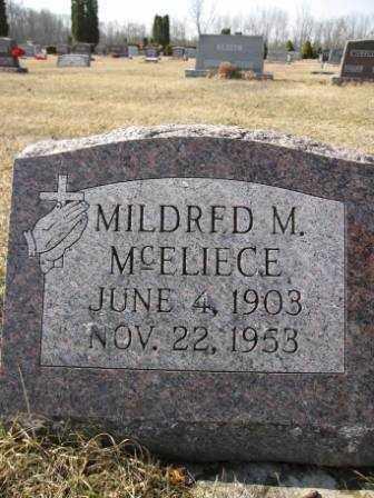 MCELIECE, MILDRED M. - Union County, Ohio | MILDRED M. MCELIECE - Ohio Gravestone Photos