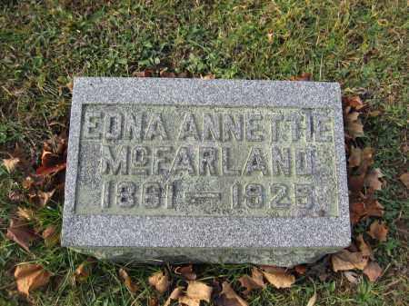 MCFARLAND, EDNA ANNETTE - Union County, Ohio   EDNA ANNETTE MCFARLAND - Ohio Gravestone Photos