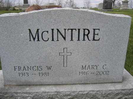 MCINTIRE, FRANCIS W. - Union County, Ohio | FRANCIS W. MCINTIRE - Ohio Gravestone Photos