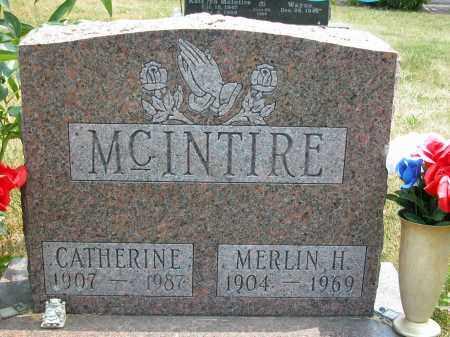 MCINTIRE, CATHERINE - Union County, Ohio | CATHERINE MCINTIRE - Ohio Gravestone Photos