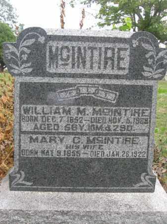MCINTIRE, WILLIAM M. - Union County, Ohio | WILLIAM M. MCINTIRE - Ohio Gravestone Photos