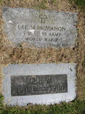 MCMAHON, LEE W. - Union County, Ohio | LEE W. MCMAHON - Ohio Gravestone Photos
