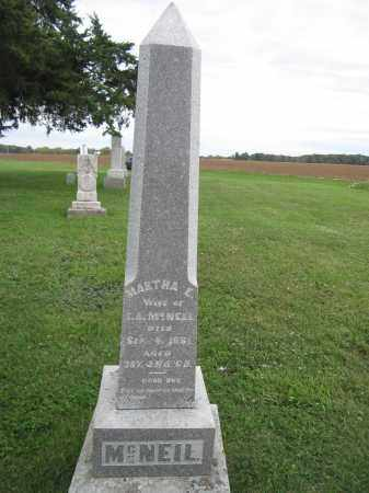 MCNEIL, MARTHA E. - Union County, Ohio | MARTHA E. MCNEIL - Ohio Gravestone Photos