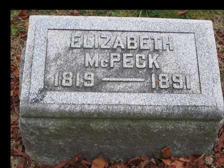 MCPECK, ELIZABETH - Union County, Ohio | ELIZABETH MCPECK - Ohio Gravestone Photos