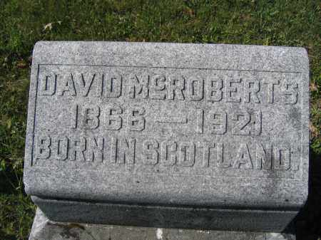 MCROBERTS, DAVID - Union County, Ohio | DAVID MCROBERTS - Ohio Gravestone Photos