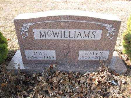 MCWILLIAMS, HELEN - Union County, Ohio | HELEN MCWILLIAMS - Ohio Gravestone Photos
