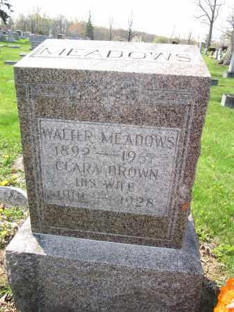 MEADOWS, WALTER - Union County, Ohio | WALTER MEADOWS - Ohio Gravestone Photos