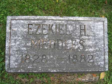 MEDDLES, EZEKIEL H. - Union County, Ohio | EZEKIEL H. MEDDLES - Ohio Gravestone Photos