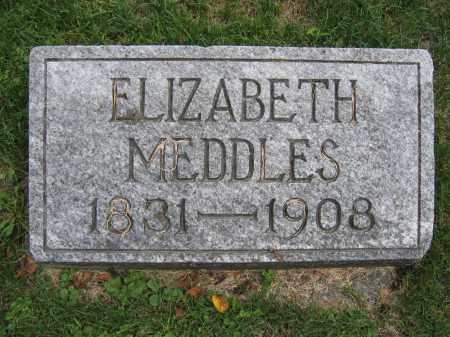MEDDLES, ELIZABETH - Union County, Ohio | ELIZABETH MEDDLES - Ohio Gravestone Photos