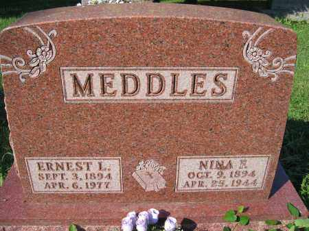MEDDLES, ERNEST L. - Union County, Ohio | ERNEST L. MEDDLES - Ohio Gravestone Photos