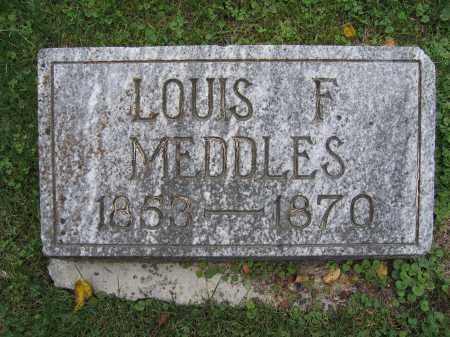 MEDDLES, LOUIS F. - Union County, Ohio | LOUIS F. MEDDLES - Ohio Gravestone Photos