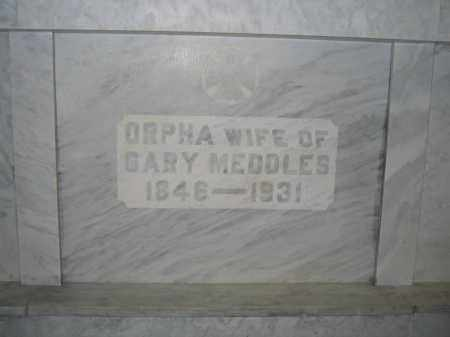 MEDDLES, ORPHA - Union County, Ohio | ORPHA MEDDLES - Ohio Gravestone Photos