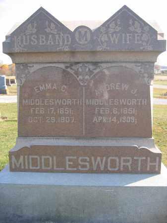 MIDDLESWORTH, ANDREW J. - Union County, Ohio | ANDREW J. MIDDLESWORTH - Ohio Gravestone Photos