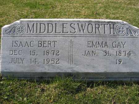 MIDDLESWORTH, ISAAC BERT - Union County, Ohio | ISAAC BERT MIDDLESWORTH - Ohio Gravestone Photos