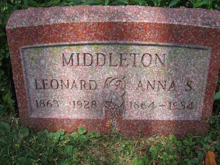 MIDDLETON, ANNA S. - Union County, Ohio | ANNA S. MIDDLETON - Ohio Gravestone Photos