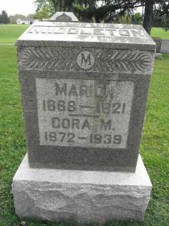 MIDDLETON, CORA - Union County, Ohio   CORA MIDDLETON - Ohio Gravestone Photos