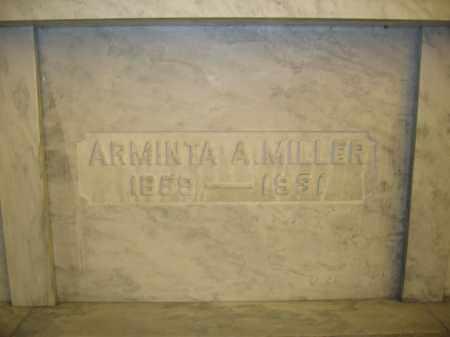MILLER, ARMINTA A. - Union County, Ohio   ARMINTA A. MILLER - Ohio Gravestone Photos