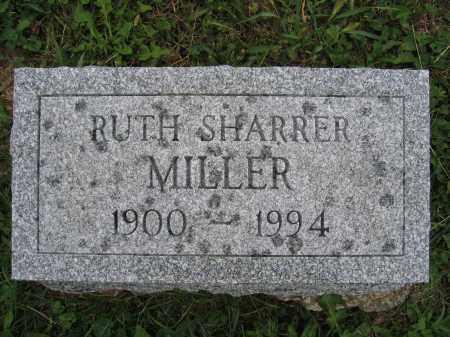 MILLER, RUTH SHARRER - Union County, Ohio | RUTH SHARRER MILLER - Ohio Gravestone Photos